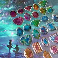Big Diamond sticker Diamond shape diamond pattern epoxy sticker colorful diamond gemstone Jewelry diamond mysterious stone mixed media decor