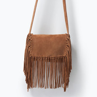 Messenger bag with fringes