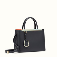 FENDI | PETITE 2JOURS midnight blue leather shopper bag