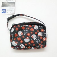 Imported Hello Kitty BLACK Detachable Pouch for Cell Phone / MP3 / Camera / Key
