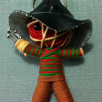 Freddy Krueger Horror Movie String Voodoo Doll Keyring Keychain movie cartoon Key Ring Key Chain handmade funny Bag Car