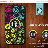 20% OFF SALE Personalized iPhone 4 Case - Plastic iPhone case - Rubber Silicone iPhone case - Monogram iPhone case - iPhone 4s case - MC077