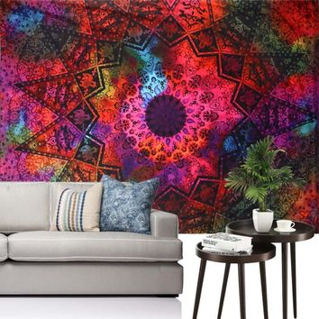 Ouneed Flower Tapestry Wall Hanging Mandala  India Yoga Mat Bedspread Beach Towel Shawl Happy Sale ap516