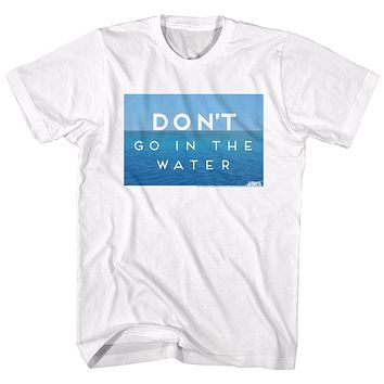 Jaws T-Shirt Don't Go In The Water White Tee