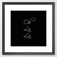 Typography Print - Canvas Art - Oh La La - Paris Wall Decor - Housewares - French Decor - Black and White - Paris - Typography Canvas