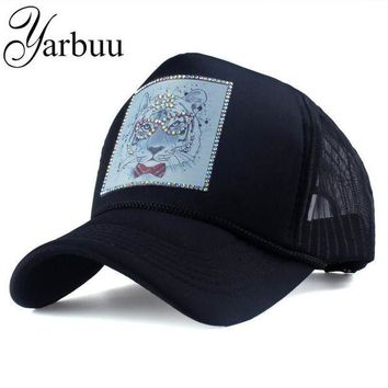 DCCKWJ7 [YARBUU] Brand baseball caps with Cartoon animals summer net cap for women Female hat Rhinestone snapback hats Casquette cap hat