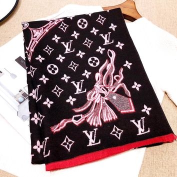 Free Shipping-LV long warm and comfortable shawl scarf