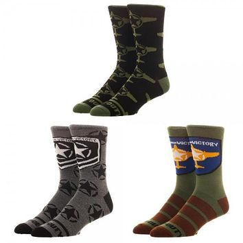 Call of Duty 3 Pair Socks Set