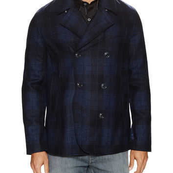 Springville Plaid Peacoat