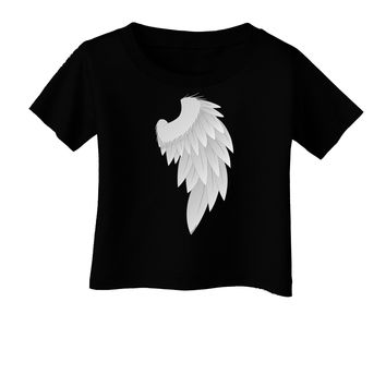 Single Right Angel Wing Design - Couples Infant T-Shirt Dark
