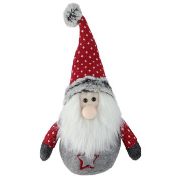 "8"" Retro Christmas Gnome with Red Hat Table Top Christmas Decoration"