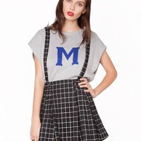 Suspender grid skirt - Shop the latest Fashion Trends