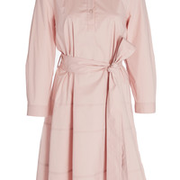Stretch Shirt Dress With Tie | Moda Operandi