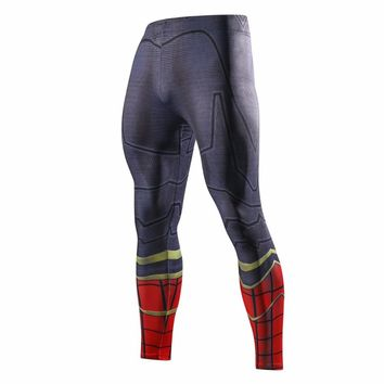 2018 Movie Avengers 3 Iron spider-man Black Panther Compressed trousers T'Challa Cosplay Pants Superhero Polyester fitness pants