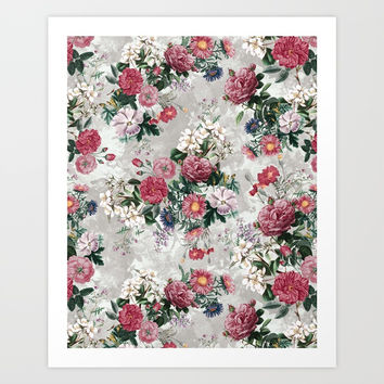 Beautiful Flowers Art Print by RIZA PEKER