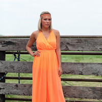 Neon Jumpsuit W/ Strappy Back