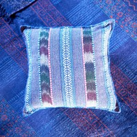 Blue Multi Striped Pillow