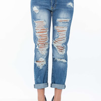 Let's Shred Boyfriend Jeans
