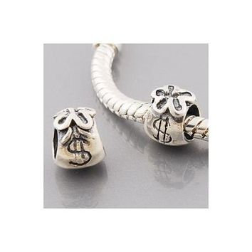 Money Bags Charm Bead