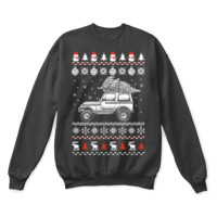 PEAPINY Jeep Brings Christmas Home Ugly Sweater