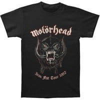 Motorhead Men's  Grey Pig Vintage T-shirt Black