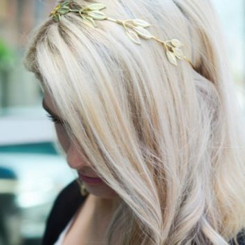 Gold Leaf Boho Roman Headband