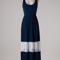 Navy Lace Maxi Dress