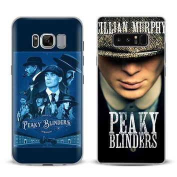 Peaky Blinders Logo Phone Case Cover Shell For Samsung Galaxy S4 S5 S6 S7 Edge S8 S9 Plus Note 8 2 3 4 5 A5 A7 J5 2016 J7 2017