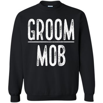 Men's Groom Mob Bachelor Party Shirt Black