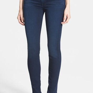 'Slim Illusion Luxe' Mid Rise Skinny Jeans (Rich Blue)