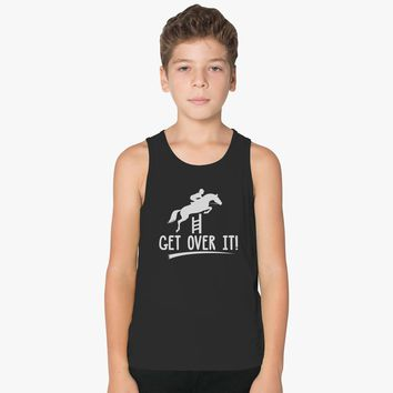 Jumping Horse Get Over It Kids Tank Top