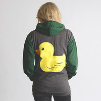 Plug and String Clothing — The Duck Zipper . Green