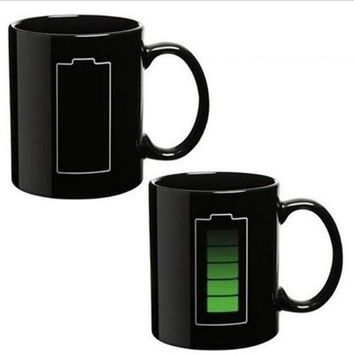 Heat Sensitive Color Changing Battery Mug