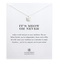 It's Meow Or Never Kitty Necklace, Sterling Silver | Dogeared