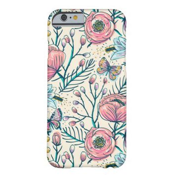 Rose Flower Pattern iPhone 6 Case