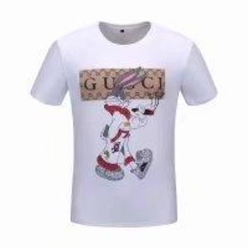 Gucci 2018ss Spring and Summer men's new short sleeve,G home smoking Big ears rabbit  printing money p60