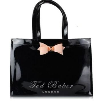 53f688a48 Ted Baker Las Lailey Slim Bow Leather Tote Bag Powder Blue Home Ted Baker  Metal ...