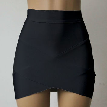 Low Elasticity Multi Color Sexy Micro Mini High Waist Pencil Skirts Casual Club Tight Bandage Bodycon Skirt SM6