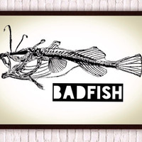 Angler Fish Skeleton // Sublime Badfish // Nautical Beachy Badass Stencil Art // Black and White Poster Print