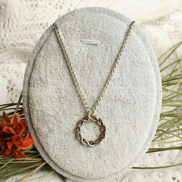 Karma silver necklacevintage silver necklaceinfinity by luckyvicky