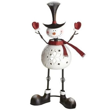 Bobblehead Snowman Tealight Holder