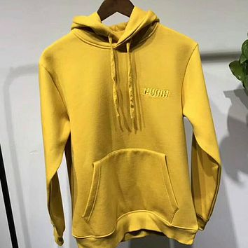Puma Fashion Trending Embroidered Hoodie Long Sleeve Sweater Top Yellow I-ZDL-STPFYF