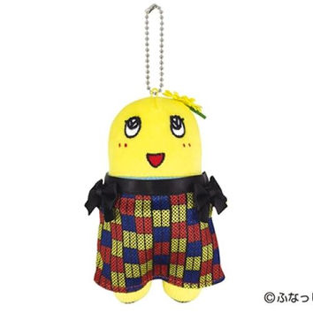 Local Character Funassyi Plush Doll with Safety Pin and Ball Chain (NYC Fashion Show Colorful Dress)