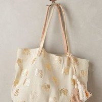 Shiraleah Gilded Elephant Tote in Gold Size: One Size Bags