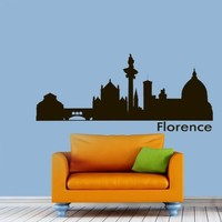 Vinyl Wall Decals Florence Italy Skyline City Silhouette Sticker Home Decor Art Mural Z599