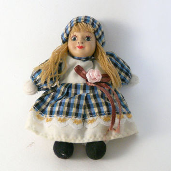 Vintage small porcelain doll porcelain sweet girl