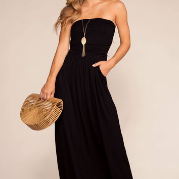 Sunrise Pocket Maxi Dress - Black