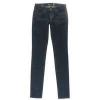 Notify Womens Bamboo Dark Wash Low-Rise Skinny Jeans