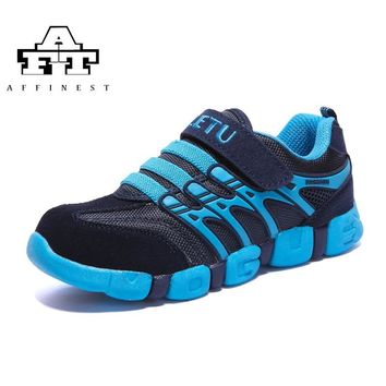 AFFINEST Kids Soft Running Shoes Boys Girls Breathable Sneakers Slip On School Shoes Leather Upper outdoor sport