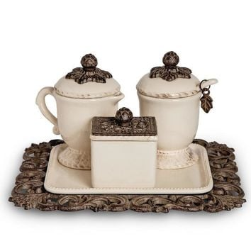 Acanthus Coffee Container Set